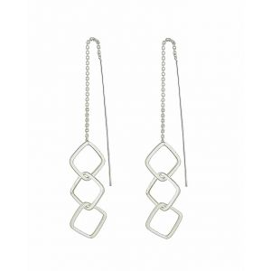 Geo Linked Threader Earrings