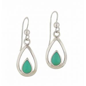 Turquoise Lullaby Silver Drop Earrings