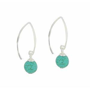 Turquoise Splendour  Silver Drop Earrings