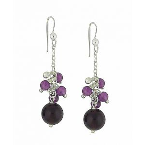 Amethyst Bundle Silver Drop Earrings