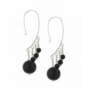 Onyx Ascending Drop Earrings
