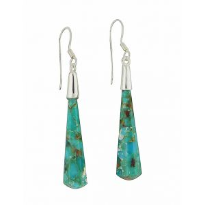 Ascending Drop Turquoise Silver Earrings