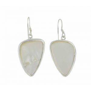 Plectrum Mother of Pearl Silver Earrings