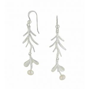 Nature Drop Freshwater Pearl Silver Earrings