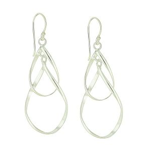 Intertwist Silver Drop Earrings