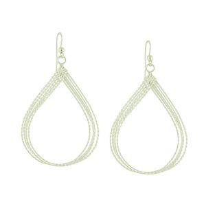 Fine Threads Silver Loop Drop Earrings