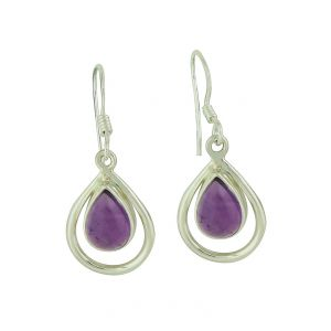 Amethyst Demi Central Drop Earrings