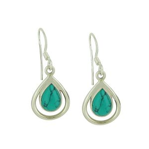 Turquoise Demi Central Drop Earrings