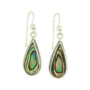 Abalone Shell Shaped Dangly Earrings