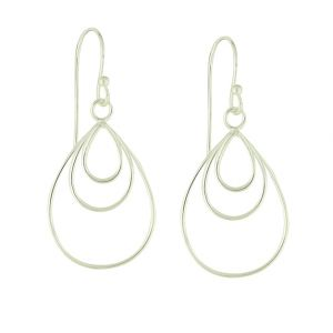Tri Strand Beauteous Drop Earrings