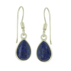 Sterling Silver Teardrop Lapis Lazuli Earrings