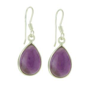Dewdrop Amethyst Silver Earrings