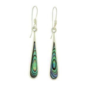 Abalone Insert Drop Earrings