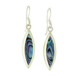 Abalone Shield Drop Earrings