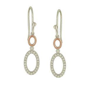 Bedecked Oval Drop Earrings