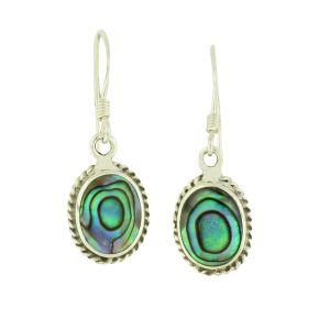 Abalone Portrait Earrings