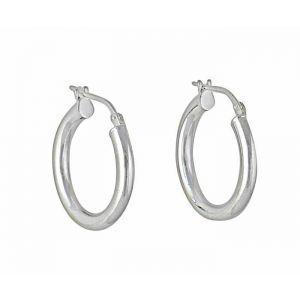 20mm Silver Hoop Earrings