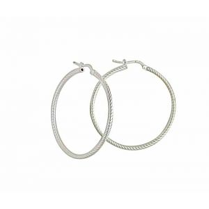 Large Silver Hoop Earrings 40mm