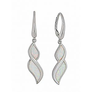 Figure of Eight Opal Hoop Earrings | The Opal