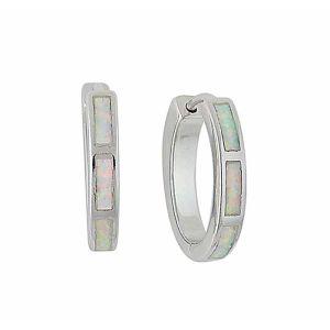 18mm Opal Silver Hoop Earrings | The Opal