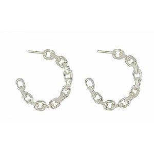 Linked Half Hoop Earrings
