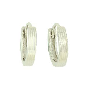 Linear Etch Hinged Hoop Earrings
