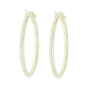 Subtlety Silver Hoop Earrings