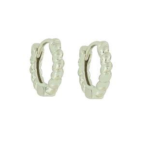Silver Turned Hoop Earrings