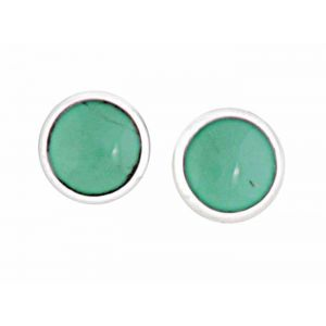 Round Turquoise Earrings