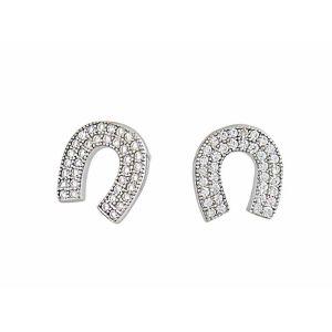 Horseshoe Silver Stud Earrings