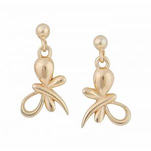 Gold Plated Silver Butterfly Earrings