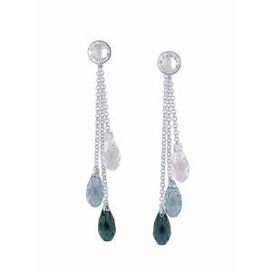 Aqua Blue Swarovski Crystal Earrings | The Opal Jewellery