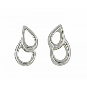 Twin Open Teardrop Silver Earrigs | The Opal Jewellery