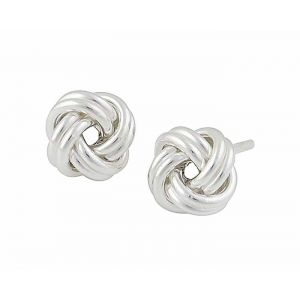 Woolmark Knot Silver Stud Earrings