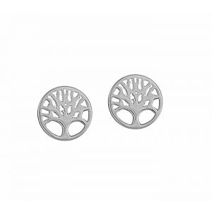 Small Tree of Life Silver Stud Earrings