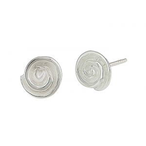Spiral Design Silver Stud Earrings