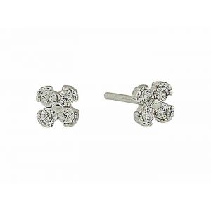 Cluster Quad Silver Stud Earrings