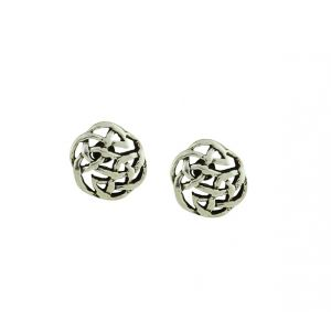 Celtic Circle Sterling Silver Stud Earrings