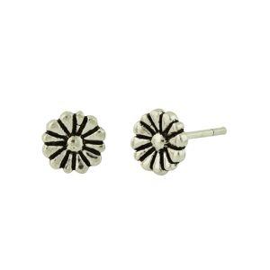 Sunflower Sterling Silver Stud Earrings