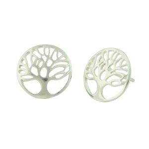 Spiritual Symbol Tree of Life Silver Studs