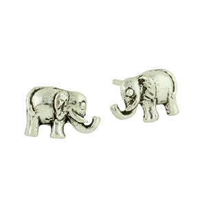 Sterling Silver Oxidised Elephant Studs