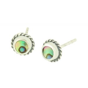 Abalone Surround Silver Studs