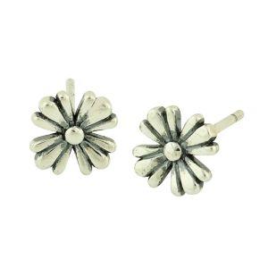 Blooms Silver Stud Earrings
