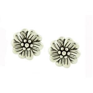 Blossoming Silver Stud Earrings