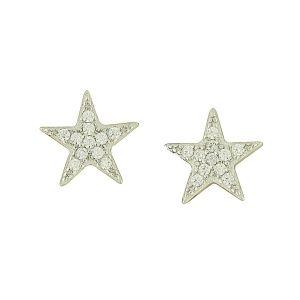 Sparkle Star Silver Studs