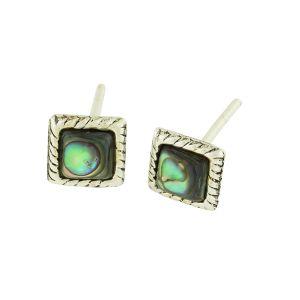 Abalone Quadrant Stud Earrings