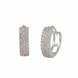 Cubic Zirconia Small Hoop Earrings -14mm