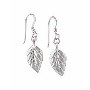 Leaf Silver Drop Earrings