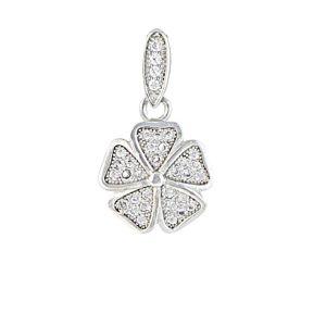 Five Petal Flower Pendant Necklace