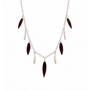 Silver Cherry Amber Necklace - Silver Amber Jewellery